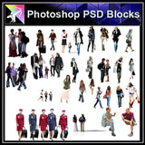 【Photoshop PSD Blocks】People PSD Blocks 5 - Architecture Autocad Blocks,CAD Details,CAD Drawings,3D Models,PSD,Vector,Sketchup Download