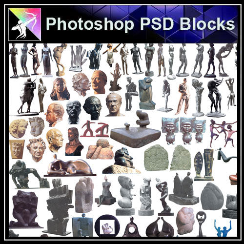 【Photoshop PSD Blocks】Landscape Statue PSD Blocks 2 - Architecture Autocad Blocks,CAD Details,CAD Drawings,3D Models,PSD,Vector,Sketchup Download