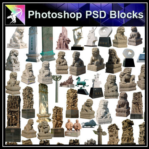 【Photoshop PSD Blocks】Landscape Statue PSD Blocks 5