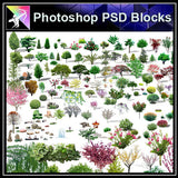 【Photoshop PSD Blocks】Landscape Tree PSD Blocks 14 - Architecture Autocad Blocks,CAD Details,CAD Drawings,3D Models,PSD,Vector,Sketchup Download