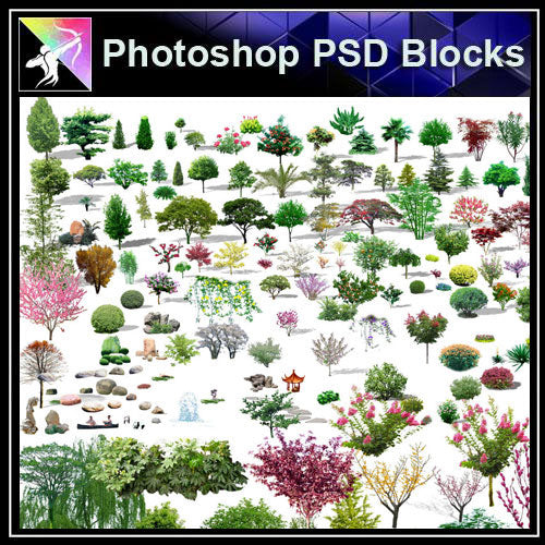 【Photoshop PSD Blocks】Landscape Tree PSD Blocks 14