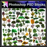 【Photoshop PSD Blocks】Landscape Tree PSD Blocks 15