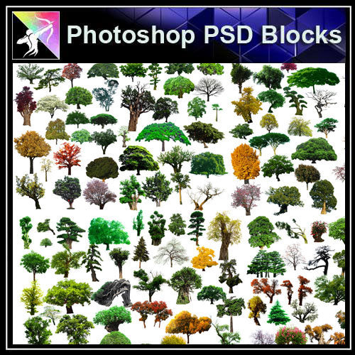 【Photoshop PSD Blocks】Landscape Tree PSD Blocks 15 - Architecture Autocad Blocks,CAD Details,CAD Drawings,3D Models,PSD,Vector,Sketchup Download
