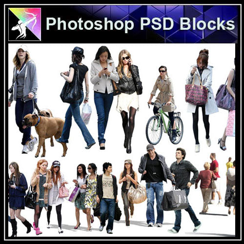 【Photoshop PSD Blocks】People PSD Blocks 6 - Architecture Autocad Blocks,CAD Details,CAD Drawings,3D Models,PSD,Vector,Sketchup Download