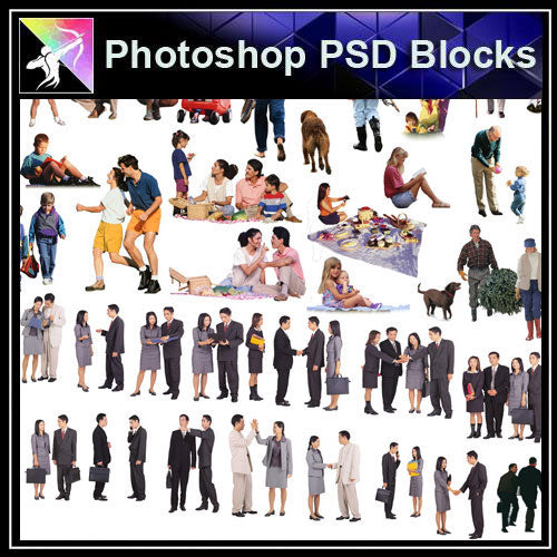 【Photoshop PSD Blocks】People PSD Blocks 7