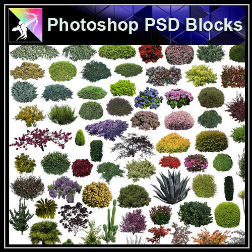 【Photoshop PSD Blocks】Landscape Tree PSD Blocks 18