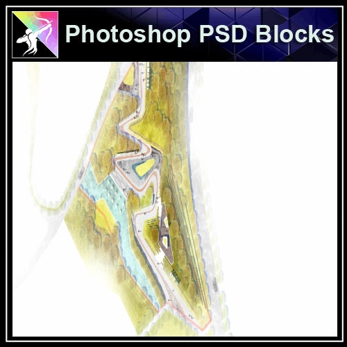 Photoshop PSD Landscape Layout Design Concept V.1 - Architecture Autocad Blocks,CAD Details,CAD Drawings,3D Models,PSD,Vector,Sketchup Download
