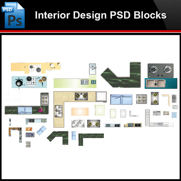 ★Photoshop PSD Blocks-Interior Design PSD Blocks -Kitchen facilities PSD Blocks - Architecture Autocad Blocks,CAD Details,CAD Drawings,3D Models,PSD,Vector,Sketchup Download