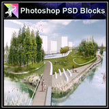 Photoshop PSD Landscape -Landscape presentation concept psd V.2 - Architecture Autocad Blocks,CAD Details,CAD Drawings,3D Models,PSD,Vector,Sketchup Download
