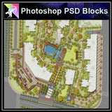 Photoshop PSD Landscape Layout -Residential Plan Design PSD V.2 - Architecture Autocad Blocks,CAD Details,CAD Drawings,3D Models,PSD,Vector,Sketchup Download