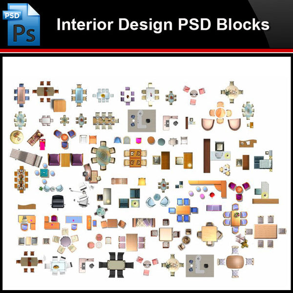 ★Photoshop PSD Blocks-Interior Design PSD Blocks-Desk & Chair PSD Blocks V2 - Architecture Autocad Blocks,CAD Details,CAD Drawings,3D Models,PSD,Vector,Sketchup Download