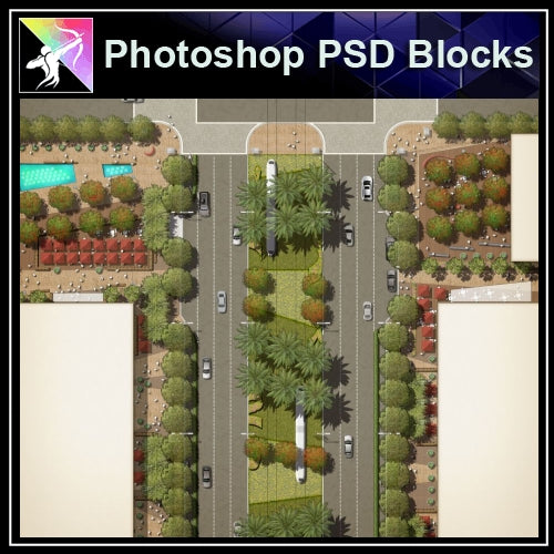 Photoshop PSD Landscape Layout Plan Blocks  V.2 - Architecture Autocad Blocks,CAD Details,CAD Drawings,3D Models,PSD,Vector,Sketchup Download