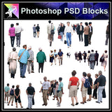 【Photoshop PSD Blocks】People PSD Blocks 8 - Architecture Autocad Blocks,CAD Details,CAD Drawings,3D Models,PSD,Vector,Sketchup Download