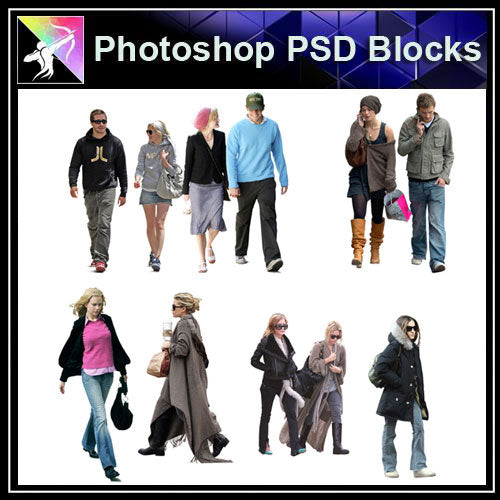 【Photoshop PSD Blocks】People PSD Blocks 9 - Architecture Autocad Blocks,CAD Details,CAD Drawings,3D Models,PSD,Vector,Sketchup Download