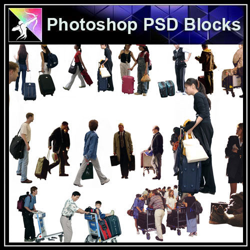 【Photoshop PSD Blocks】People PSD Blocks 10 - Architecture Autocad Blocks,CAD Details,CAD Drawings,3D Models,PSD,Vector,Sketchup Download