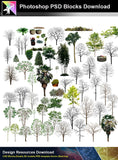 【Photoshop PSD Blocks】Landscape Tree PSD Blocks 19 - Architecture Autocad Blocks,CAD Details,CAD Drawings,3D Models,PSD,Vector,Sketchup Download
