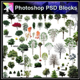 【Photoshop PSD Blocks】Landscape Tree PSD Blocks 20