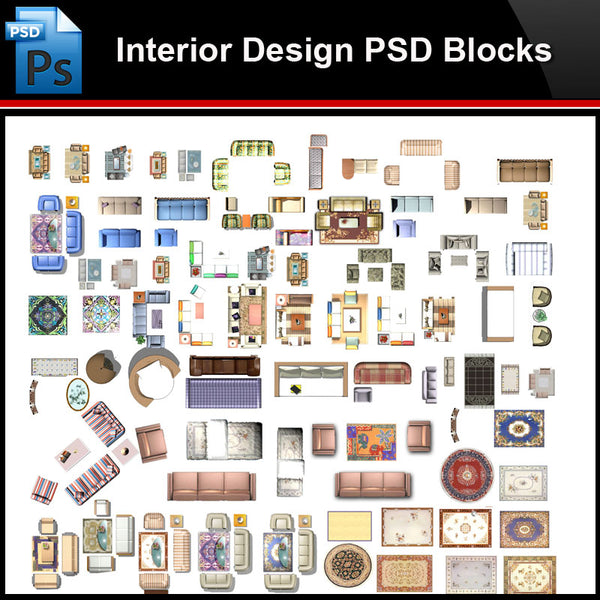 ★Photoshop PSD Blocks-Interior Design PSD Blocks-Sofa PSD Blocks V3 - Architecture Autocad Blocks,CAD Details,CAD Drawings,3D Models,PSD,Vector,Sketchup Download