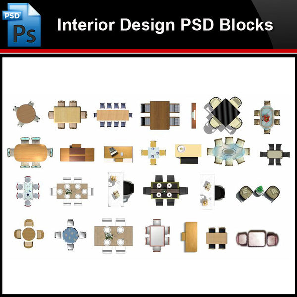 ★Photoshop PSD Blocks-Interior Design PSD Blocks-Desk & Chair PSD Blocks V3 - Architecture Autocad Blocks,CAD Details,CAD Drawings,3D Models,PSD,Vector,Sketchup Download