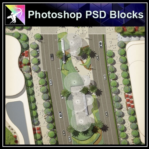Photoshop PSD Landscape Layout Plan Blocks  V.3 - Architecture Autocad Blocks,CAD Details,CAD Drawings,3D Models,PSD,Vector,Sketchup Download