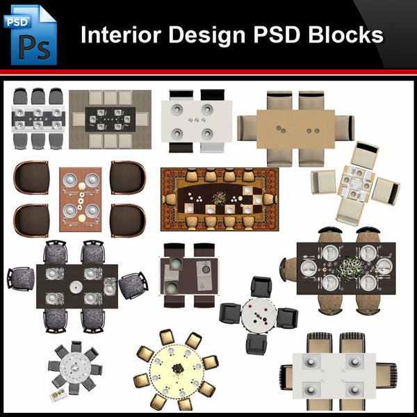 ★Photoshop PSD Blocks-Interior Design PSD Blocks-Desk & Chair PSD Blocks V4 - Architecture Autocad Blocks,CAD Details,CAD Drawings,3D Models,PSD,Vector,Sketchup Download