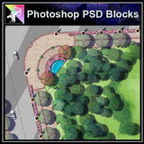 Photoshop PSD Landscape Layout Plan Blocks  V.4 - Architecture Autocad Blocks,CAD Details,CAD Drawings,3D Models,PSD,Vector,Sketchup Download