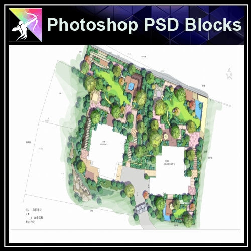 Photoshop PSD Landscape Layout Plan Blocks  V.5 - Architecture Autocad Blocks,CAD Details,CAD Drawings,3D Models,PSD,Vector,Sketchup Download