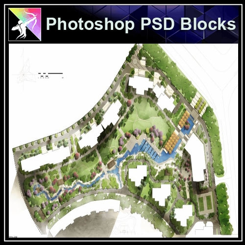 Photoshop PSD Landscape Layout Plan Blocks  V.7 - Architecture Autocad Blocks,CAD Details,CAD Drawings,3D Models,PSD,Vector,Sketchup Download