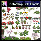 ★Photoshop PSD Blocks-Flower,Tree PSD Blocks - Architecture Autocad Blocks,CAD Details,CAD Drawings,3D Models,PSD,Vector,Sketchup Download
