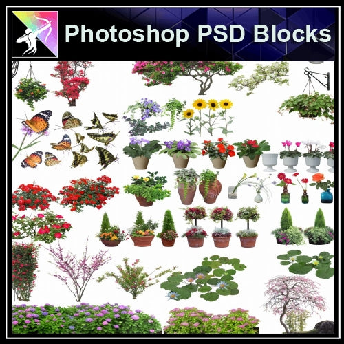 ★Photoshop PSD Blocks-Flower,Tree PSD Blocks