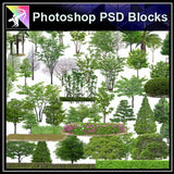 ★Photoshop PSD Blocks-Tree PSD Blocks