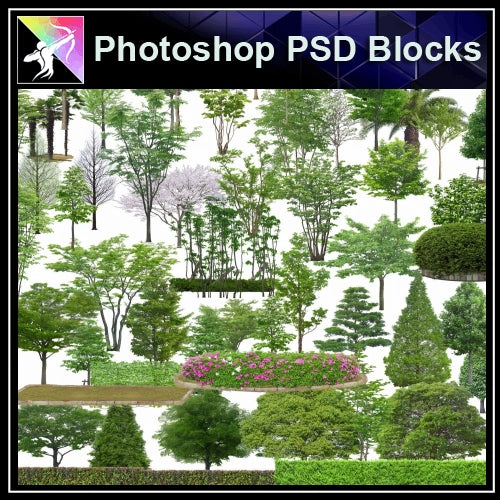 ★Photoshop PSD Blocks-Tree PSD Blocks - Architecture Autocad Blocks,CAD Details,CAD Drawings,3D Models,PSD,Vector,Sketchup Download