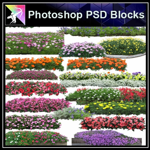 ★Photoshop PSD Blocks-Flowers PSD Blocks V.3 - Architecture Autocad Blocks,CAD Details,CAD Drawings,3D Models,PSD,Vector,Sketchup Download