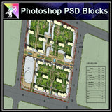 Photoshop PSD Landscape Layout -Residential Plan Design PSD V.8 - Architecture Autocad Blocks,CAD Details,CAD Drawings,3D Models,PSD,Vector,Sketchup Download