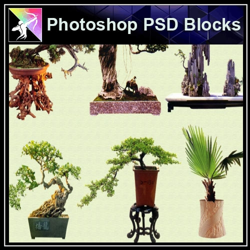 ★Photoshop PSD Blocks-Plant PSD Blocks 2 - Architecture Autocad Blocks,CAD Details,CAD Drawings,3D Models,PSD,Vector,Sketchup Download
