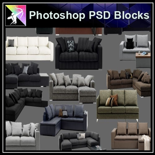 ★Photoshop PSD Blocks-Furniture PSD Blocks 2
