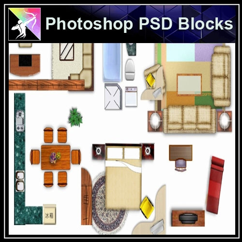 ★Photoshop PSD Blocks-Furniture PSD Blocks - Architecture Autocad Blocks,CAD Details,CAD Drawings,3D Models,PSD,Vector,Sketchup Download