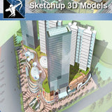 ★★Sketchup 3D Models--Big Scale Business Architecture Sketchup Models 10 - Architecture Autocad Blocks,CAD Details,CAD Drawings,3D Models,PSD,Vector,Sketchup Download
