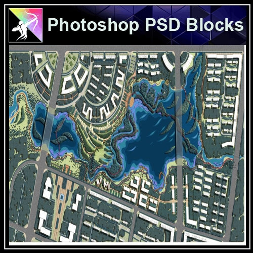 Photoshop PSD Landscape -Landscape Layout Plan V.8 - Architecture Autocad Blocks,CAD Details,CAD Drawings,3D Models,PSD,Vector,Sketchup Download
