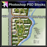 Photoshop PSD Landscape Layout -Residential Plan Design PSD V.9 - Architecture Autocad Blocks,CAD Details,CAD Drawings,3D Models,PSD,Vector,Sketchup Download