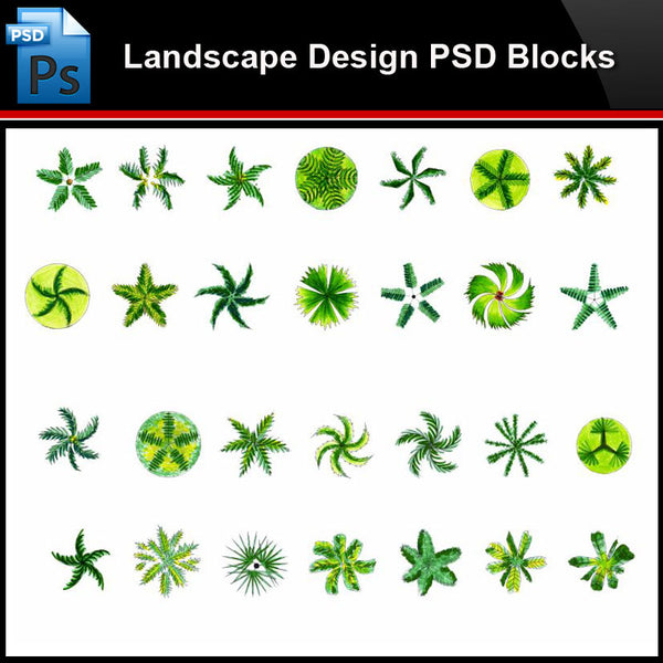 ★Photoshop PSD Blocks-Landscape Design PSD Blocks-Tree PSD Blocks - Architecture Autocad Blocks,CAD Details,CAD Drawings,3D Models,PSD,Vector,Sketchup Download