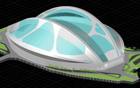 【Famous Architecture Project】Tokyo Olympic Stadium - Zaha Hadid 3d CAD Drawing-Architectural 3D CAD model