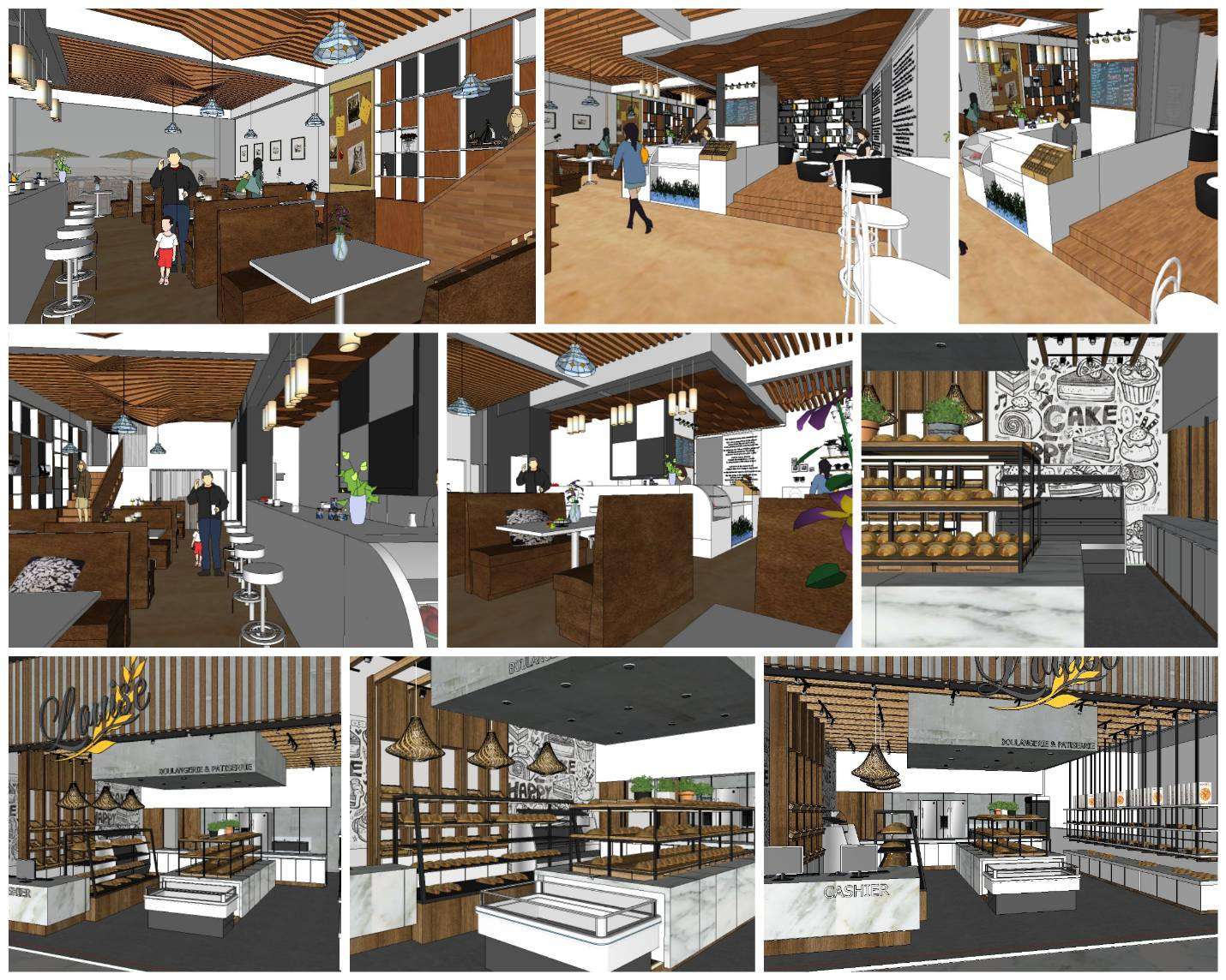 💎【Sketchup Architecture 3D Projects】Bakery Sketchup 3D Models