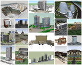 💎【Sketchup Architecture 3D Projects】19 Types of Hotel Sketchup 3D Models - Architecture Autocad Blocks,CAD Details,CAD Drawings,3D Models,PSD,Vector,Sketchup Download