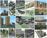 💎【Sketchup Architecture 3D Projects】20 Types of Residential Building Sketchup 3D Models V5 - Architecture Autocad Blocks,CAD Details,CAD Drawings,3D Models,PSD,Vector,Sketchup Download