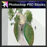Photoshop PSD Landscape -Landscape presentation concept psd V.12 - Architecture Autocad Blocks,CAD Details,CAD Drawings,3D Models,PSD,Vector,Sketchup Download