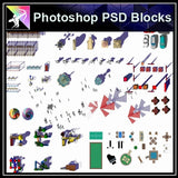 Photoshop PSD Landscape -Landscape Design elements V.4 - Architecture Autocad Blocks,CAD Details,CAD Drawings,3D Models,PSD,Vector,Sketchup Download
