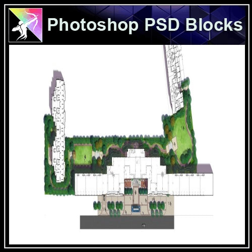 Photoshop PSD Landscape Layout Plan Blocks  V.13 - Architecture Autocad Blocks,CAD Details,CAD Drawings,3D Models,PSD,Vector,Sketchup Download