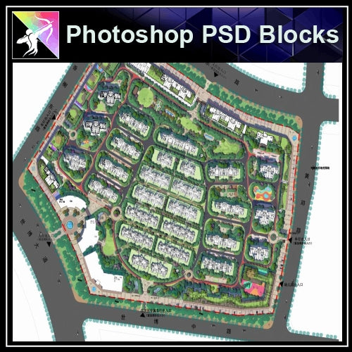 Photoshop PSD Landscape Layout Plan Blocks  V.14 - Architecture Autocad Blocks,CAD Details,CAD Drawings,3D Models,PSD,Vector,Sketchup Download