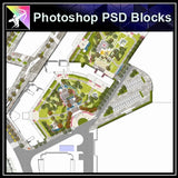 Photoshop PSD Landscape Layout Plan Blocks  V.15 - Architecture Autocad Blocks,CAD Details,CAD Drawings,3D Models,PSD,Vector,Sketchup Download